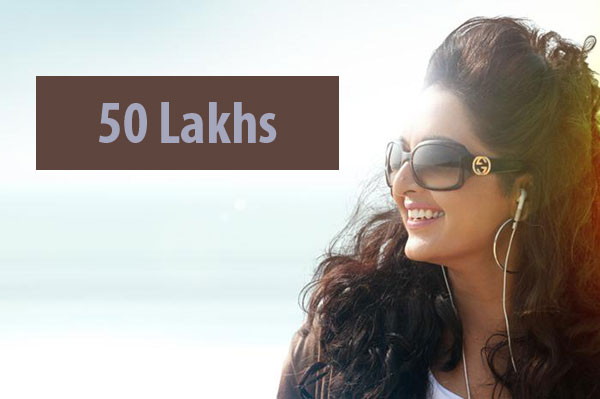 Manju Warrier gets a pay of 50 lakhs for a Malayalam film.