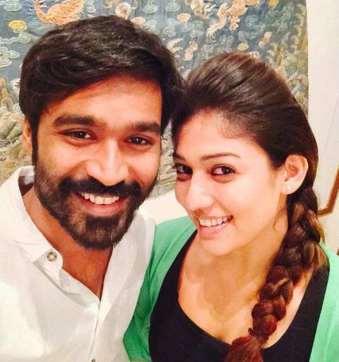 Producer with the heroine- Dhanush and Nayanthara