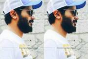Dulquer with Fully Grown Beard