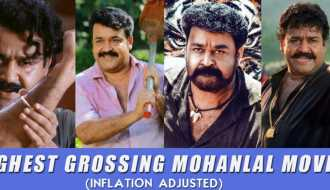 Highest grossing Mohanlal movies - adjusted for inflation